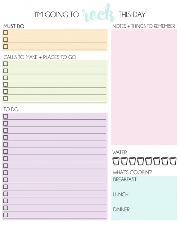 free downloadable daily planners