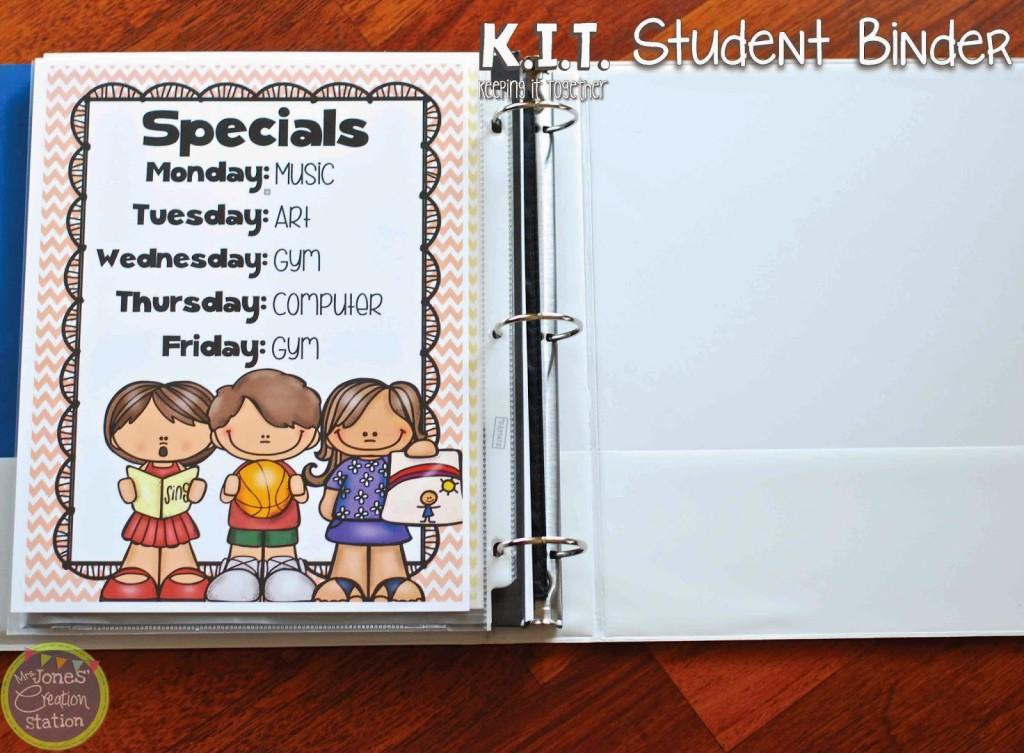 Keeping It Together KIT Student Binder - Mrs Jones\u0027 Creation Station