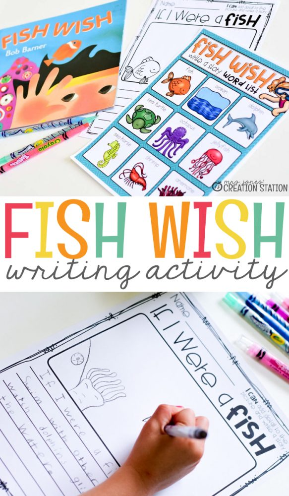 Fish Wish Writing Activity Mrs Jones\u0027 Creation Station