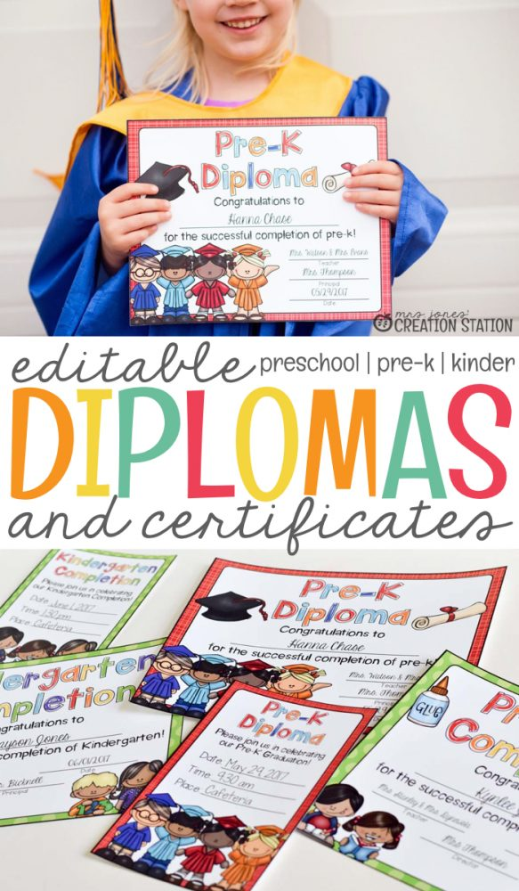 End Of The Year Graduation Diplomas and Certificates - Mrs Jones