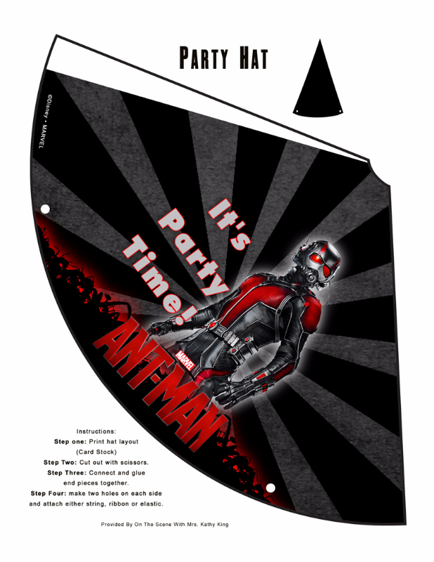 Free Marvel Ant-Man Printable Party Decoration Pack! #AntmanEvent