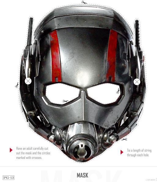Free Ant-Man Mask  17 AntMan Printable Activities #AntManEvent