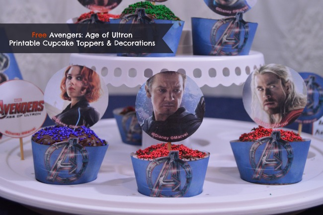 Free Avengers Age of Ultron Printable Cupcake Toppers  Decorations
