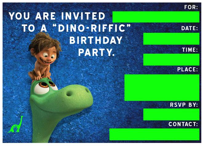 Free Good Dinosaur Birthday Party  Playdate Invitation Templates