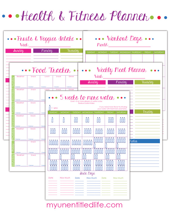 Weight Loss trackers and Fitness Printables #12DAYS - Mrs Kathy King