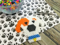 The Secret Life of Pets Party Idea Max Perler Beads Magnet party favor