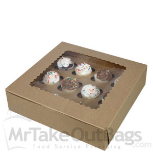 10 X 10 X 25quot Recycled Brown Kraft Cupcake Pie Boxes