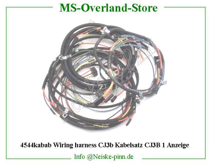 Cj3b Wiring Harness Wiring Diagram