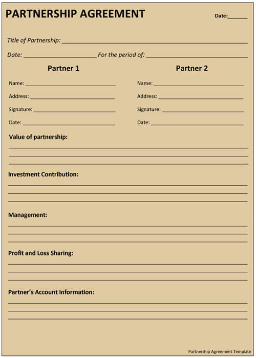 Sample Tenancy Agreement Template Word - construction partnership agreement template