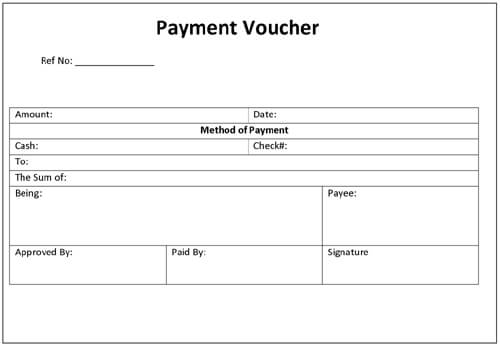 Payment Voucher Template Word - Microsoft Office Receipt Template