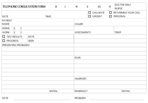 Call Sheet Template and Example in MS Word Format