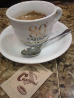 Espresso at Castroni in Rome