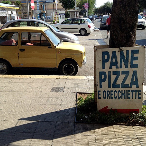 Pugliese essentials: Pane, pizza, orecchiette, on Ms. Adventures in Italy by Sara Rosso