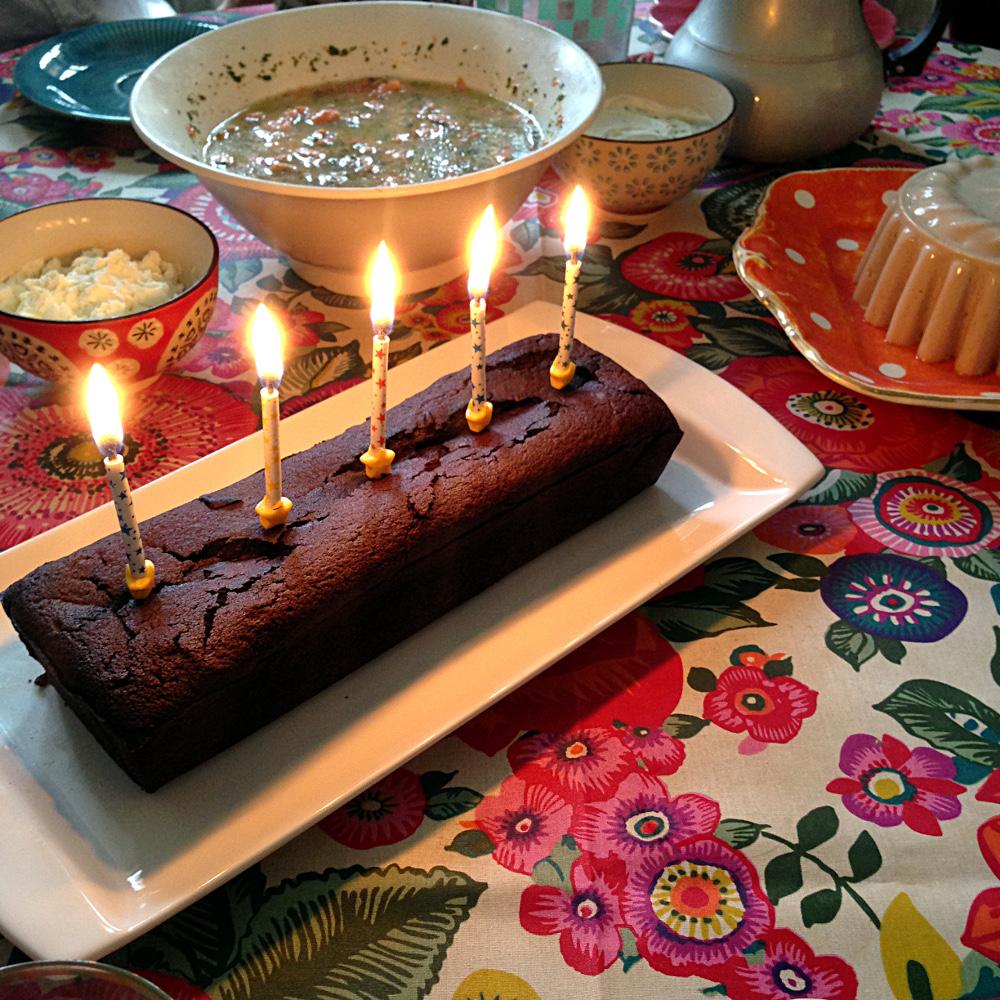 Dark Chocolate Fondant Birthday Cake Recipe