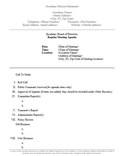 monthly meeting agenda - Pinarkubkireklamowe