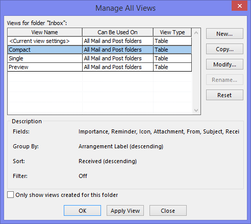 Create Calendar Ms Access 2013 Ms Access Database Help Resource Tips Tutorials Demos Defining The Default View Applied To New Folders