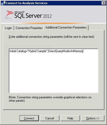 SQL Server Management Studio Additional Connection Parameters