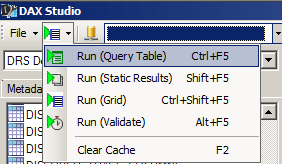 Dax Studio - Query Output