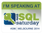 SQL Saturday #296 - I'm Speaking