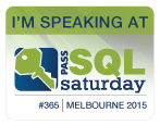 I'm speaking at SQL Sat 365 Melbourne