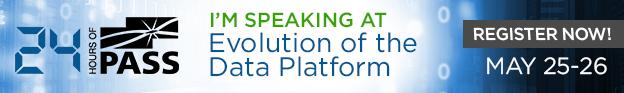 I'm speaking at 24 HOP Evolution of the Data Platform, May 25-26