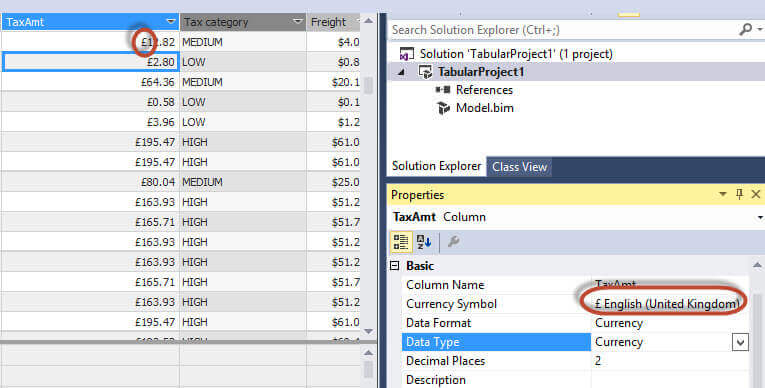 Common DAX functions and expressions for a SQL Server Tabular Database