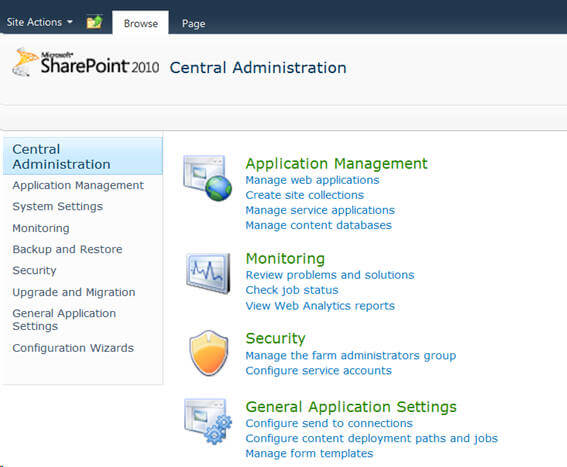 Creating Web Applications, Site Collections and Sites in SharePoint 2010
