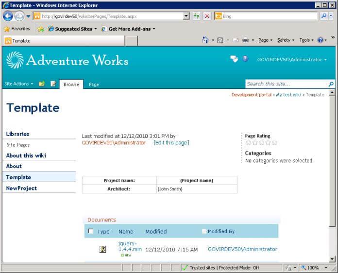 sharepoint page template - Elisdlugopisyreklamowe