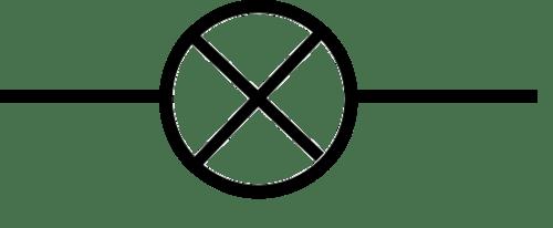 bulb circuit symbol
