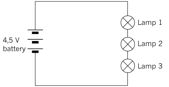 parallel circuit with three lamps