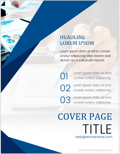 word cover pages download