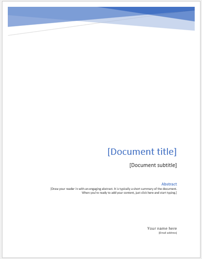 assignment sheet template for students