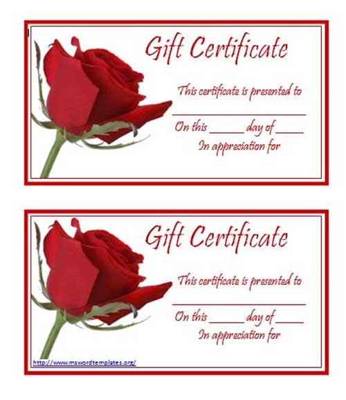 Doc750320 Free Printable Gift Certificate Template click here – Gift Certificate Template Free Word