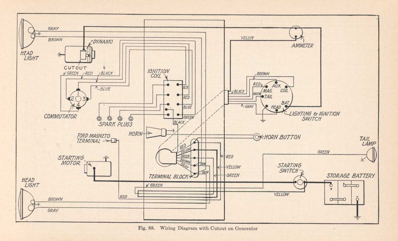 1928 ford model a wiring diagram