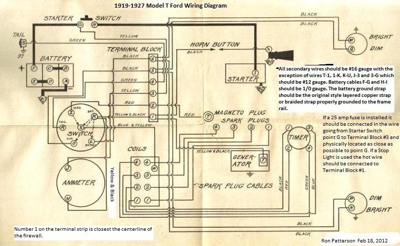 1929 model a wiring diagram