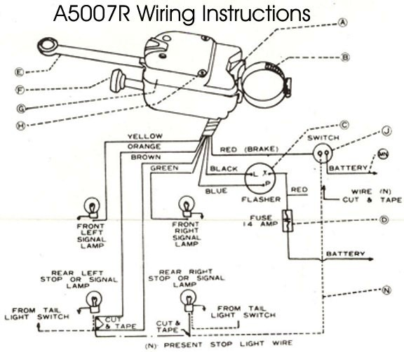 1972 chevy turn signal wiring schematic