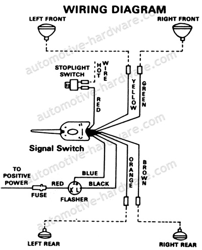 1954 Chevy Blinker Wiring Control Cables  Wiring Diagram