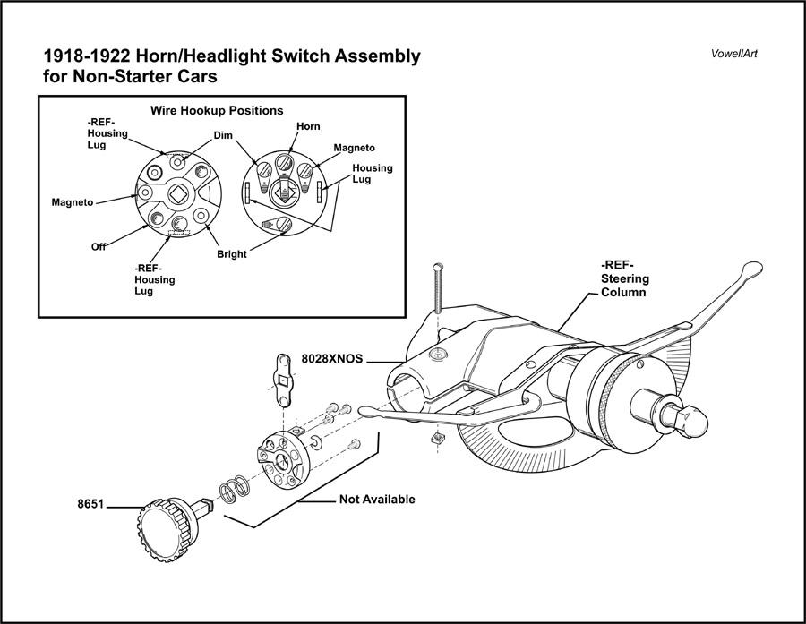model a ford headlight switch ledningsdiagram