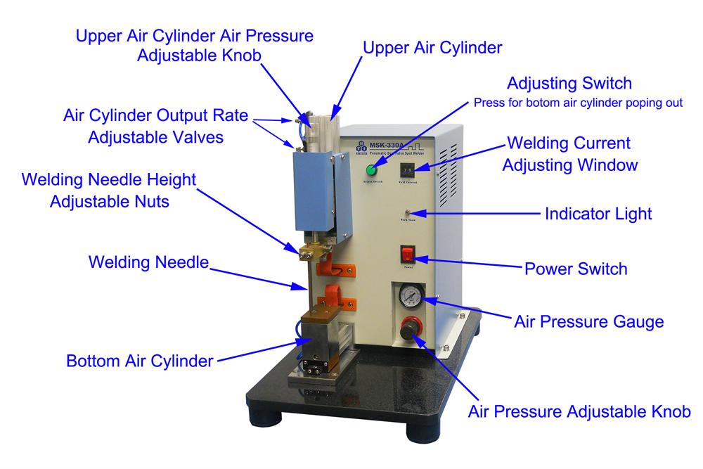 Precise Pneumatic Point Welding Machine for Professional Li-on