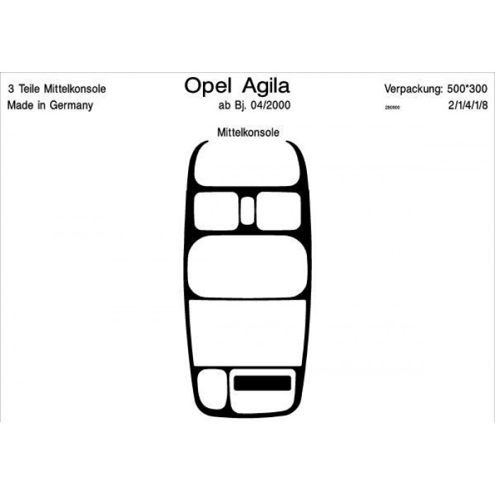 interieur opel agila photo