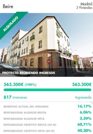 Invertir en housers: El proyecto de Beire con un 3,3% de rentabilidad anual