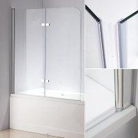 140 CM Glas Duschabtrennung Badewannenaufsatz Badewanne