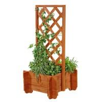 Melko Blumenkasten Holz Pflanzkasten Gartenbank 2 in 1