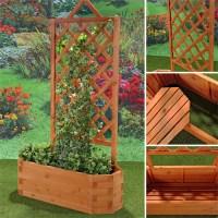 Blumenkasten Holz Pflanzkasten Gartenbank 2 in 1