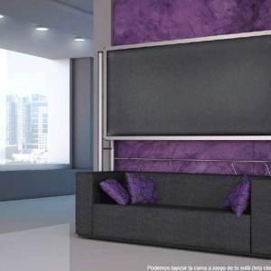 Litera abatible superior metálica con hueco inferior,se puede colocar sofá,mesa......