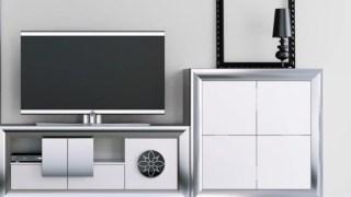 Salón gris metalico