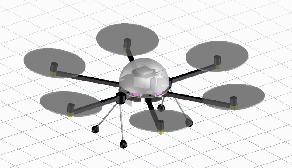 design of homemade hexacopter