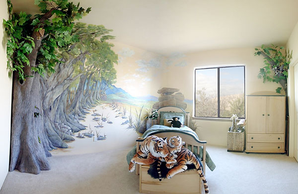 Animal Bedroom Wallpaper 3 D Murals Gallery