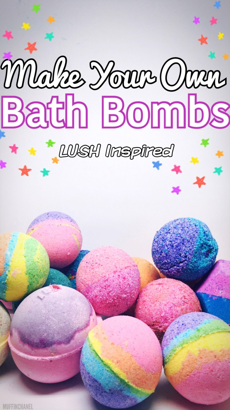 Lush inspired bath bombs by Muffin channel
