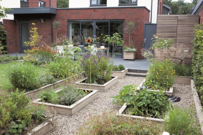 Hochbeet bauen und Gartengestaltung mit Hochbeeten - garten gestalten bilder